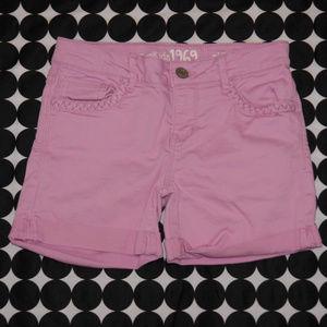 Gap Kids Light Purple Midi Denim Shorts Size 10